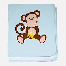 Cute Monkey baby blanket