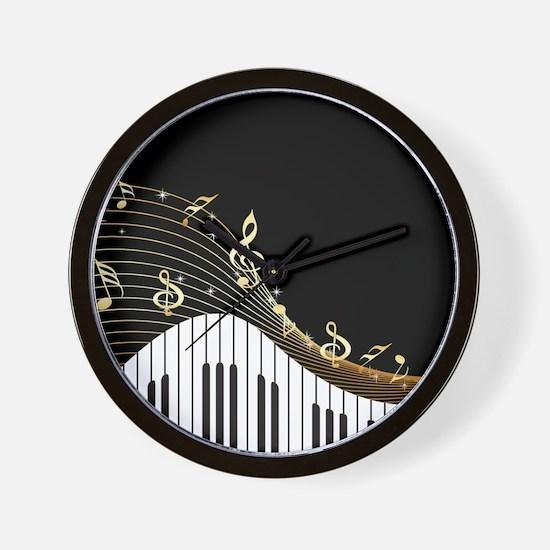 Ivory Keys Piano Music Wall Clock
