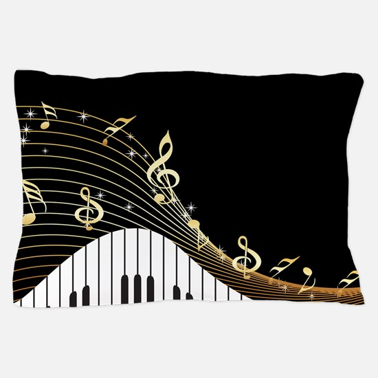Ivory Keys Piano Music Pillow Case