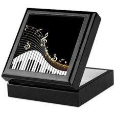 Ivory Keys Piano Music Keepsake Box