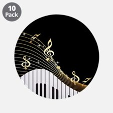 """Ivory Keys Piano Music 3.5"""" Button (10 pack)"""