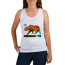 California Republic Bear (fractal design) Tank Top