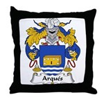 Arques Family Crest Throw Pillow