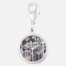 Blue, White, and Purple Dandelions Charms
