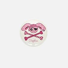 Pirate Bunny Mini Button (10 pack)