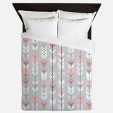 Feathered Flight on Grey Queen Duvet