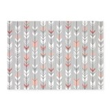 Pink grey arrow 5x7 Rugs