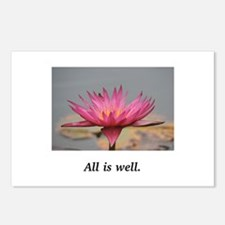 All Is Well Water Lily Gifts Postcards (Package of