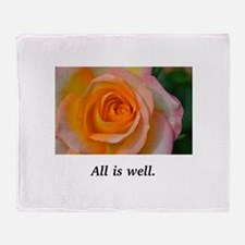 All Is Well Rose Blessings Throw Blanket