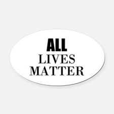 All Lives Matter Oval Car Magnet