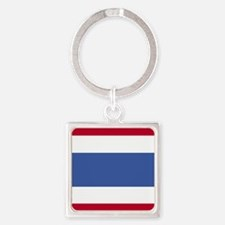 Square Thai Flag Keychains