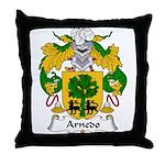 Arnedo Family Crest Throw Pillow