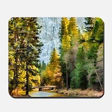 Peaceful Mountain River Mousepad