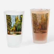 Peaceful Mountain River Drinking Glass