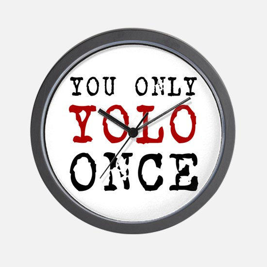YOLO Once Wall Clock