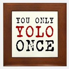 YOLO Once Framed Tile