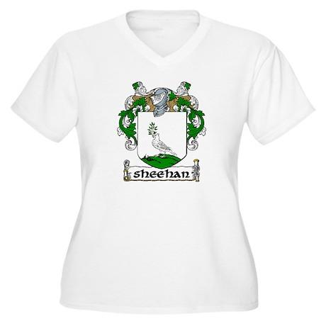 Sheehan Coat of Arms Women's Plus Size V-Neck T-Sh