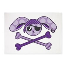 Pirate Bunny 5'x7'Area Rug