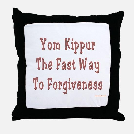Yom Kippur Forgiveness Throw Pillow