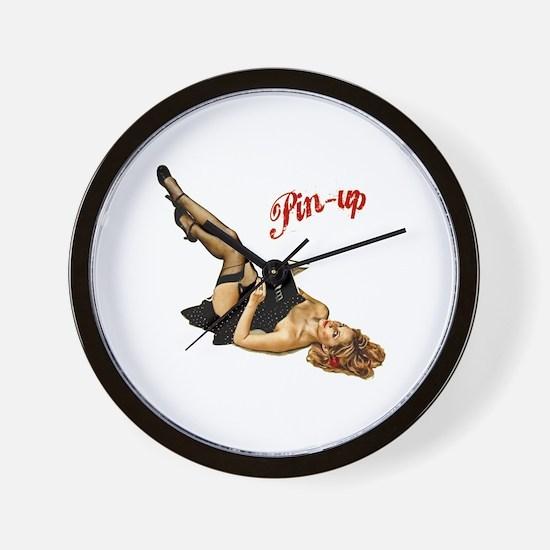 Cute Pin up girls Wall Clock
