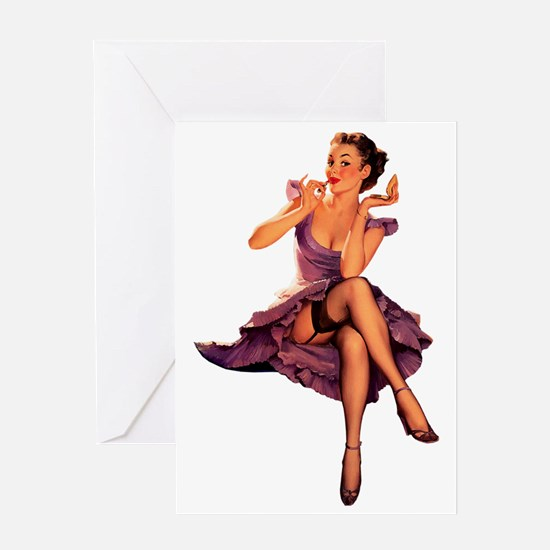 Unique Pin up girl Greeting Card