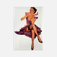 Funny Pin up Rectangle Magnet