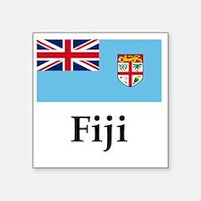 "Fiji Flag Square Sticker 3"" x 3"""