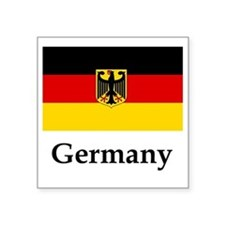 "Germany Flag #2 Square Sticker 3"" x 3"""