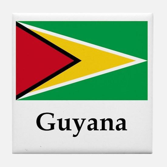 Guyana Flag Tile Coaster
