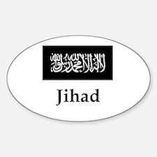 Jihad Flag Sticker (Oval)