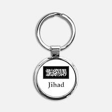 Jihad Flag Round Keychain