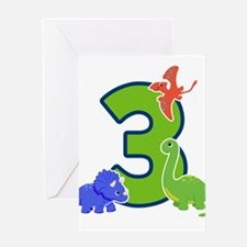 Dinosaur 3 Greeting Cards