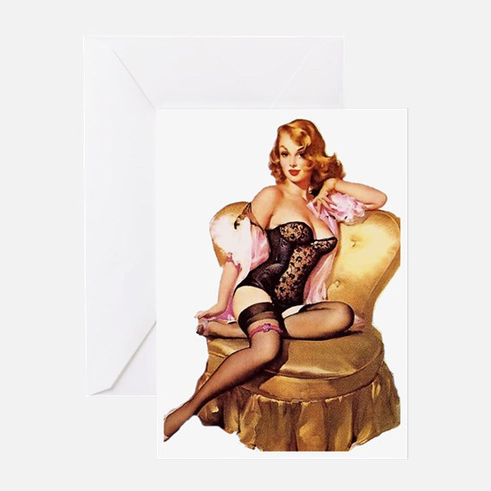 Pin up Greeting Card