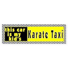 Karate Taxi Bumper Bumper Sticker
