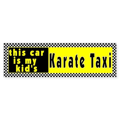 Karate Taxi Bumper Sticker
