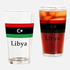 Libya Flag Drinking Glass