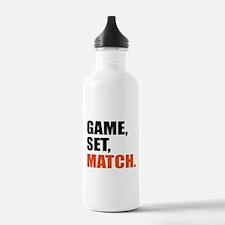game,set,match Water Bottle