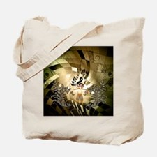Clef on colorful background Tote Bag