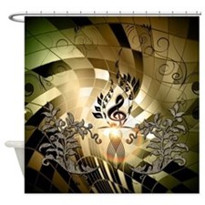 Clef on colorful background Shower Curtain