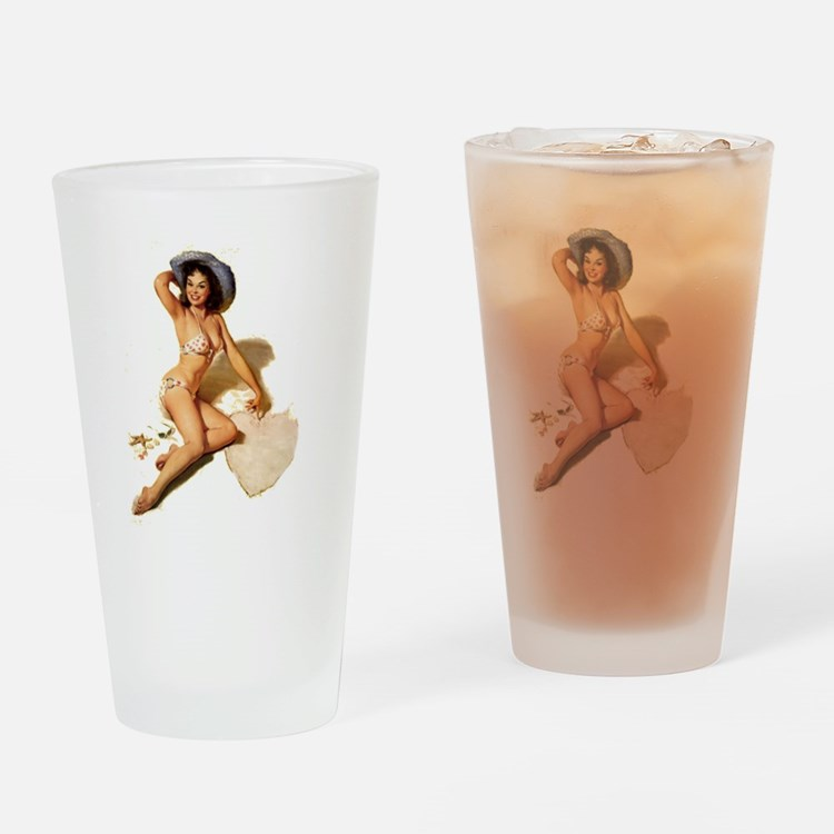 Pin up Drinking Glass