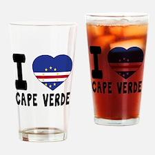 I Love Cape Verde Drinking Glass