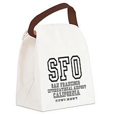AIRPORT CODES - SFO - SAN FRANCIS Canvas Lunch Bag
