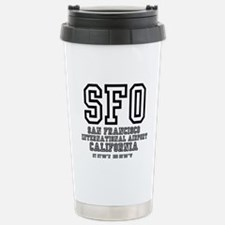 AIRPORT CODES - SFO - S Stainless Steel Travel Mug