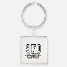 AIRPORT CODES - SFO - SAN FRANCISCO Keychains