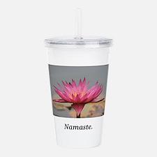 Magenta Water Lily Namaste Acrylic Double-wall Tum