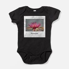 Magenta Water Lily Namaste Baby Bodysuit