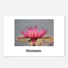 Magenta Water Lily Namaste Postcards (Package of 8