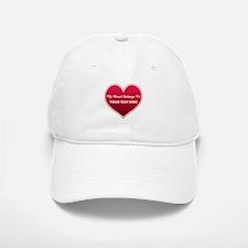 Custom Heart Belongs To Baseball Baseball Cap