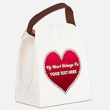 Custom Heart Belongs To Canvas Lunch Bag