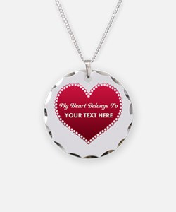 Custom Heart Belongs To Necklace